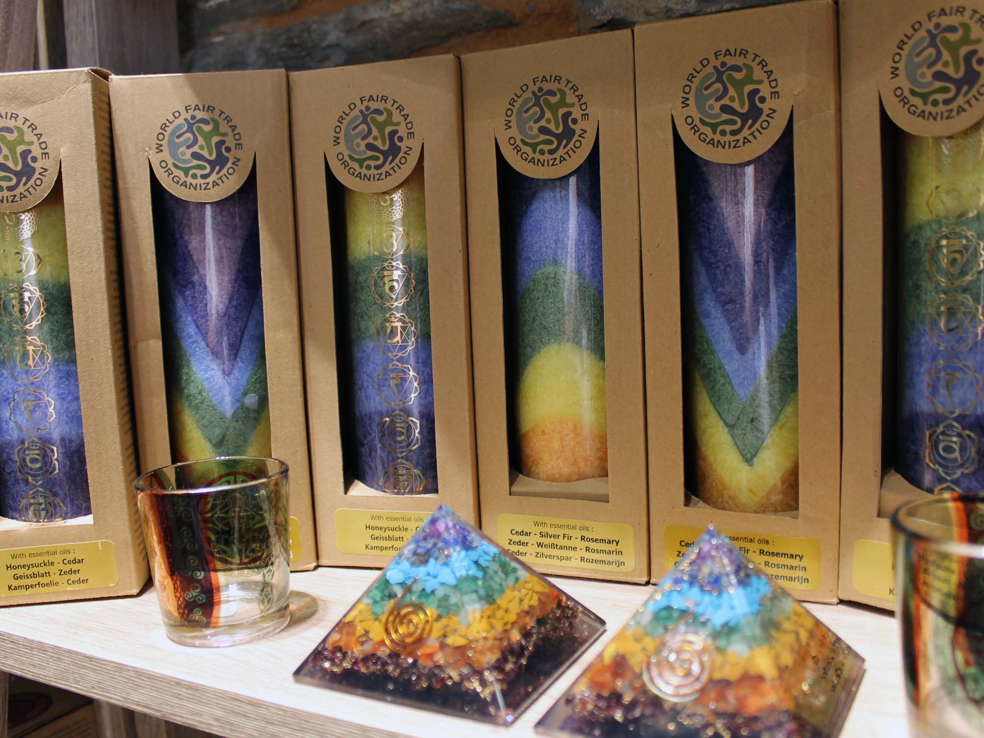 Bougies chakras huiles essentielles