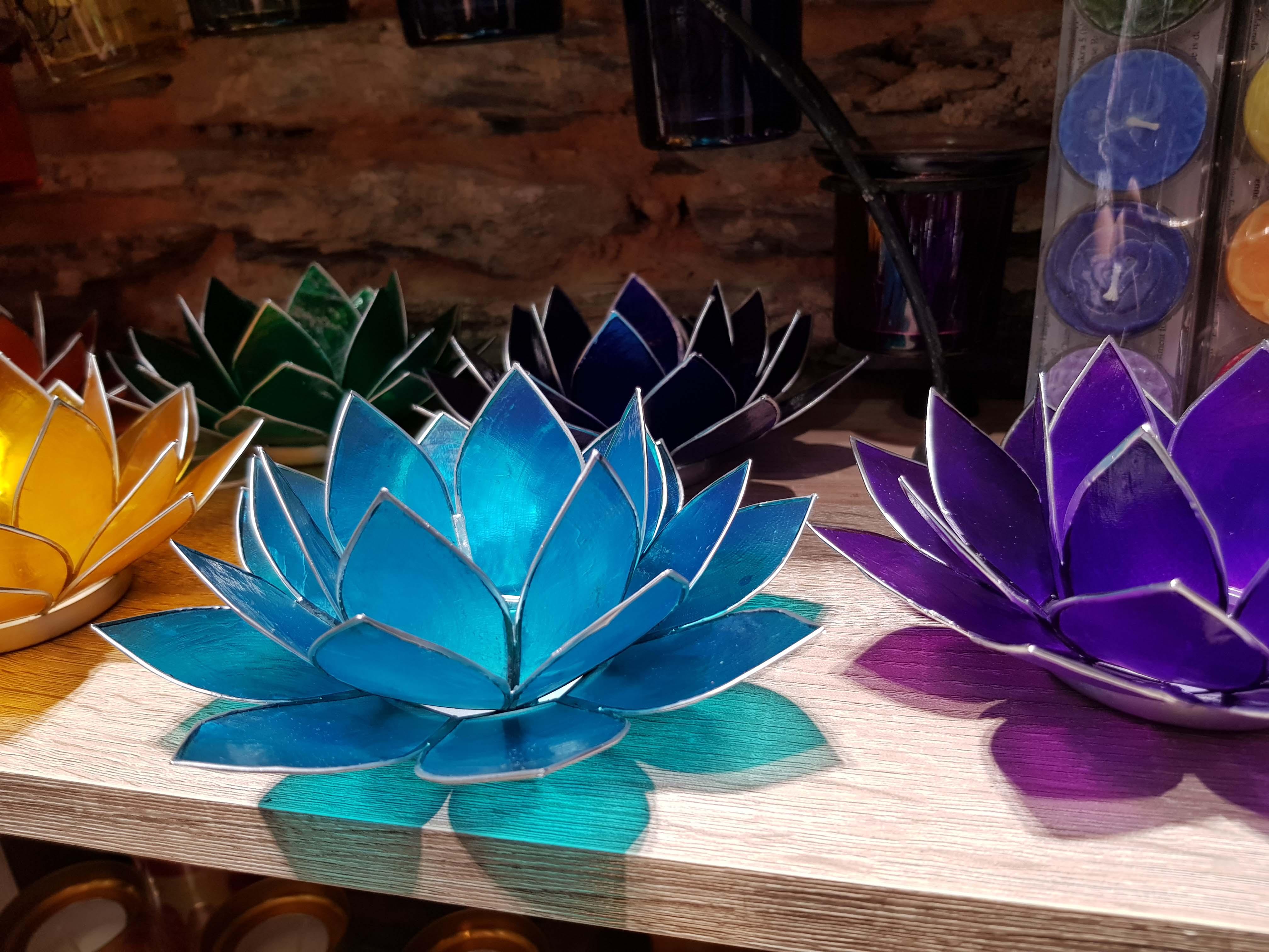 porte bougie lotus chakra