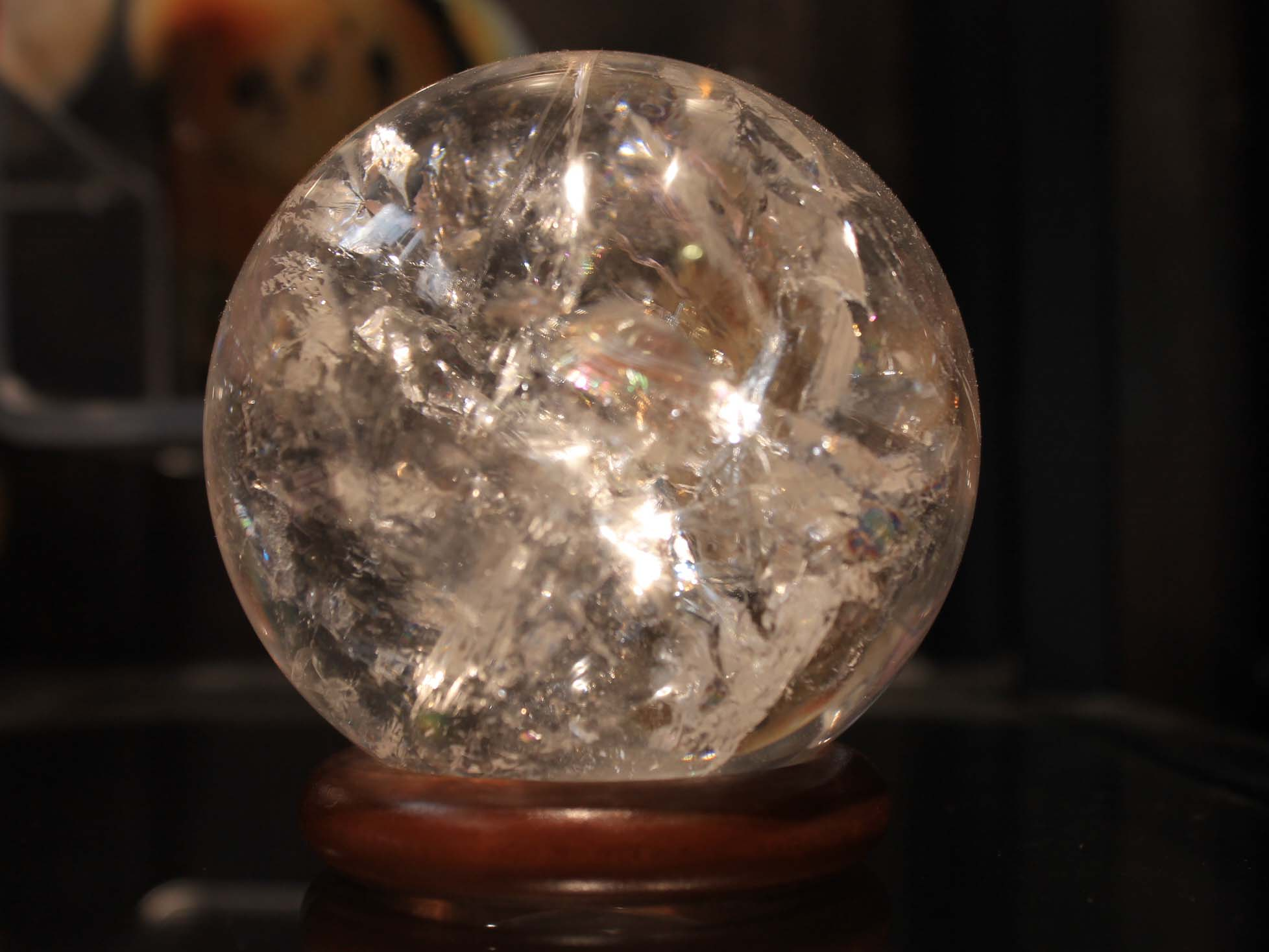 sphère cristal de roche
